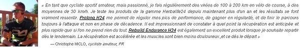 Témoignage de Christophe MICLO à propos de Herbalife24